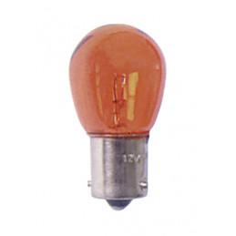Ampoule de clignotant 12V. 21w. 1 plot ba15s ambrée vendu par 10 pièces