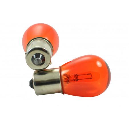 10 ampoules halogene BA15S / P21W orange 12V/21W S25