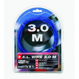 Fil néon lumineux avec effet flash 1.5m bleu