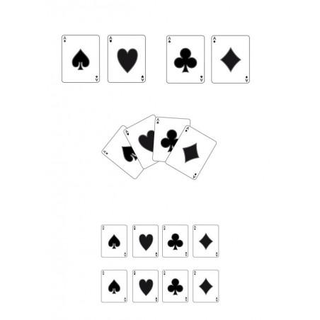 """Élément sticker car déco """"poker"""" full color"""