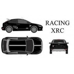 """Kit stickers car déco """"xrc"""" blanc Taille S"""