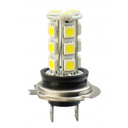 1 Ampoule LED H7 12V 4,32W 18 leds SMD5050 blanc