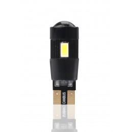 2 ampoules LED T10 W5W 3W 12V + lentille canbus blanc