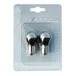 2 ampoules invisible P21W BA15S 12V 21W chrome orange