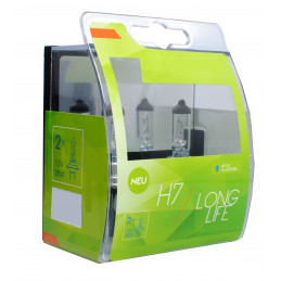2 ampoules LONG LIFE H7 12V 55W blanc
