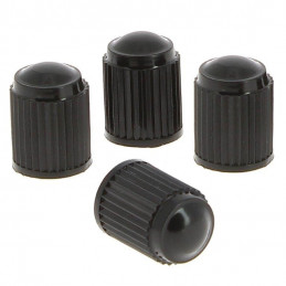Bouchons de valve plastique noir standard