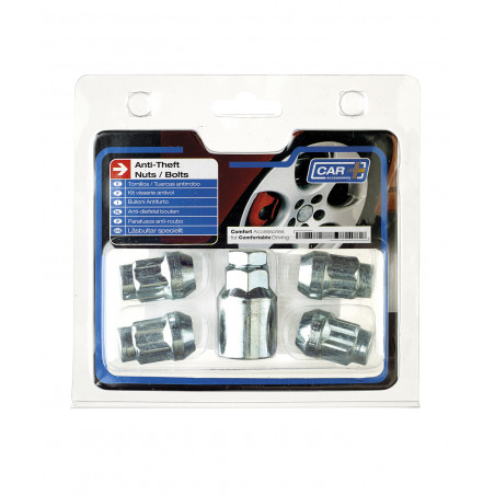 Jeu d'antivol de roue chrome + 1 clé - Ford - ESCAPE