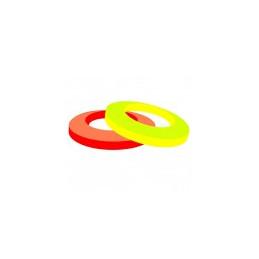 Filet adhésif fluo jaune 6mm