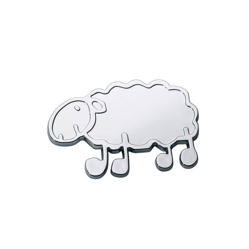 Emblème chrome mouton basque 57x40 mm