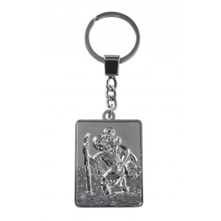 Porte clé Saint Christophe rectangulaire