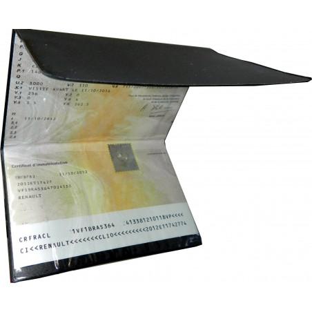 Etui PVC pour carte grise (125x254 cm)