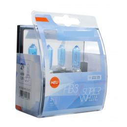 2 ampoules SUPERWHITE HB3 12V 55W ultra blanc effet XENON