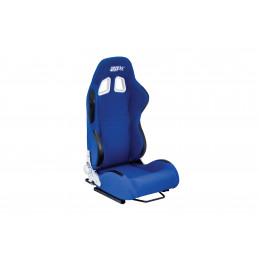 Siège baquet réglable tissu bleu TECH ART