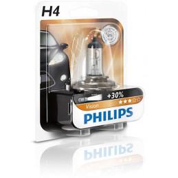 Ampoule PHILIPS H4 Vision 12V +30% - 1 pce -