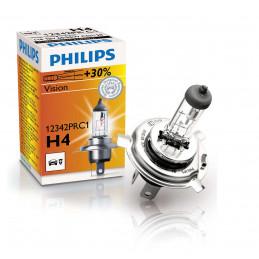 Ampoule PHILIPS H4 Vision 12V 60/55W +30% - 1 pce -
