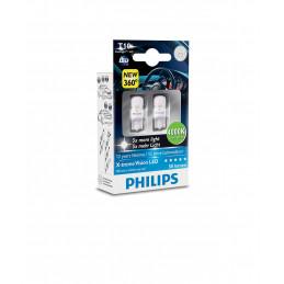 Ampoules LED PHILIPS X-Trême Vision T10 W5W 1W 4000K 360°