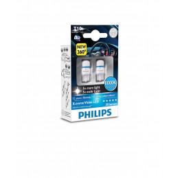 Ampoules LED PHILIPS X-Trême Vision T10 W5W 1W 8000K 360°