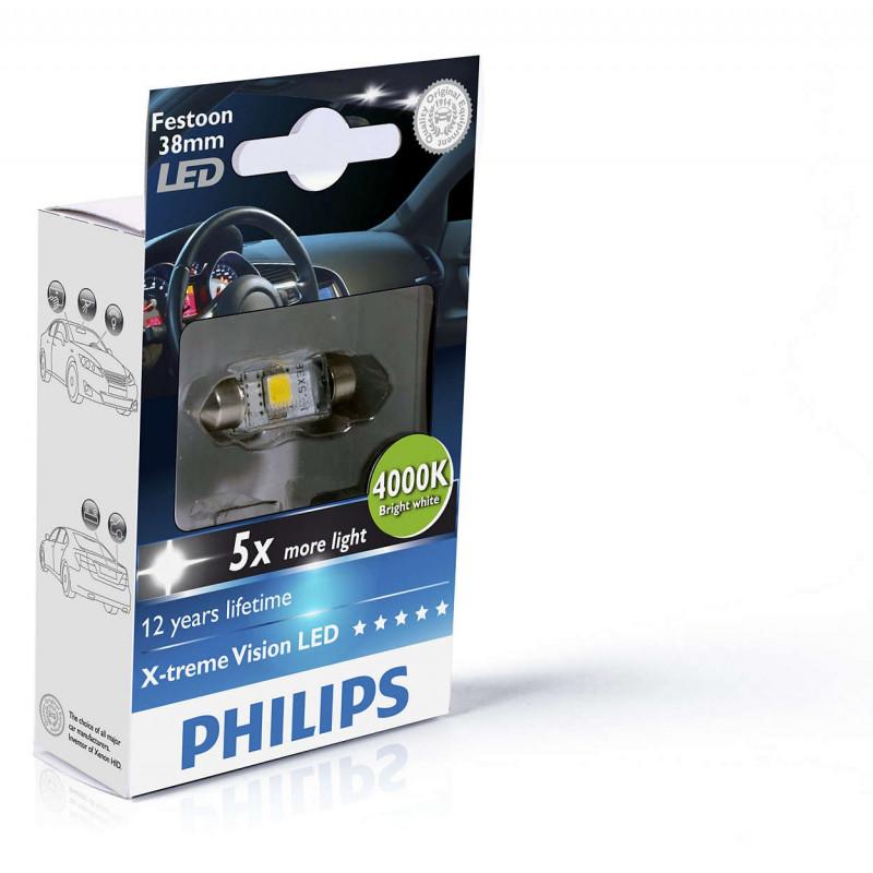 Led Philips Trême X 1w 4000k Ampoule Festoon C5w 38mm Vision XiuTPkOZ