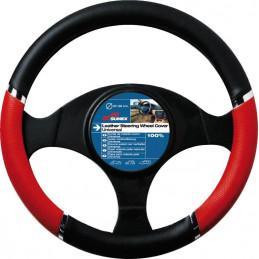 couvre volant SPEED noir/rouge peugeot 206 - diamètre volant 37/39cm -