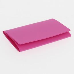 Etui PVC gomme pour carte grise (133x264 mm) fuchsia