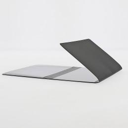 Etui PVC gomme pour carte grise (133x264 mm) noir