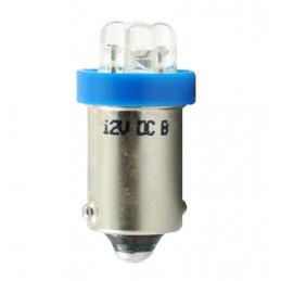 Ampoule bleu BA9s 4xLED 3mm 12V 0.96W