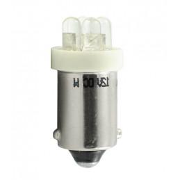 Ampoule blanc BA9s 4xLED 3mm 12V 0.96W