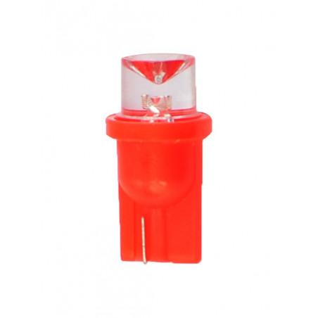 1 ampoule LED rouge T10 W5W 24V 0.29W