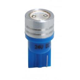 ampoule LED bleu T10 W5W 24V 1W