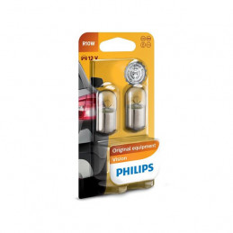 2 ampoules PHILIPS R10W 10W BA15s 12V