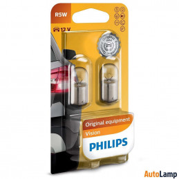 2 ampoules PHILIPS R5W 5W BA15s 12V
