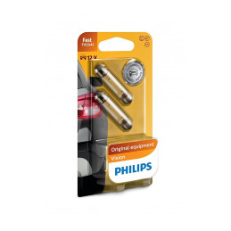 2 ampoules navette PHILIPS C10W 10W 12V SV8.5