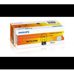 10 ampoules PHILIPS W21/5W W3x16q 12V