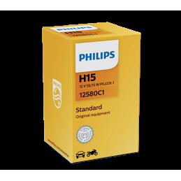 Ampoule Halogène PHILIPS H15 12V 15/55W PGJ23t-1