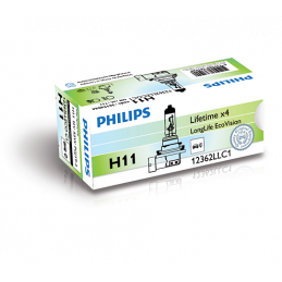 Ampoule Philips H11 LongLife  Eco Vision PGJ19-2 12V 55W