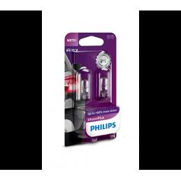 2 ampoules Philips T10 Vision Plus 12V 6W WBT10 W2.1x9.5d B2