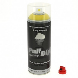 Peinture élastomère en spray Full dip 400ml - Finition jaune mate