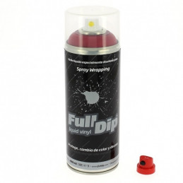Peinture élastomère en spray Full dip 400ml - Finition rouge cherry mate