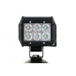 2 Lampes LED de travail / barre de toit 4x4 18W 2000LM - 9,6x7,5cm