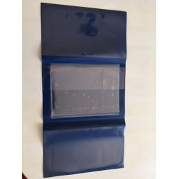 Pochette transporteur en PVC standard bleu azur