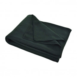 couverture plaid polaire noir