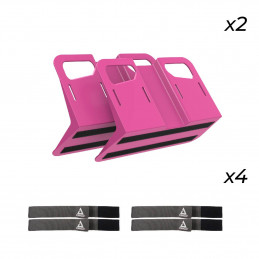 Pack de 2 STAYHOLD METRO rose + 4 sangles