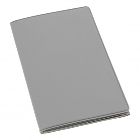 Etui PVC gomme pour carte grise (133x264 mm) gris clair