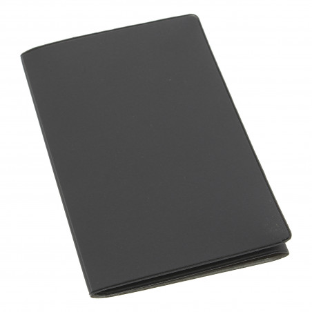 Etui PVC gomme pour carte grise (133x264 mm) gris plomb