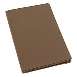 Etui PVC gomme pour carte grise (133x264 mm) chocolat