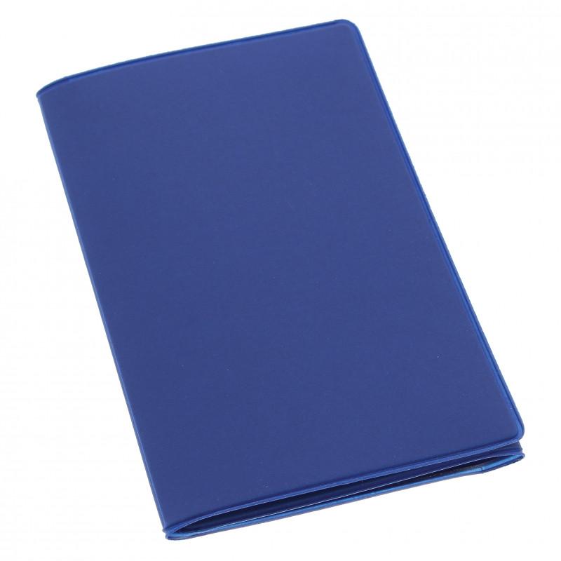Etui PVC gomme pour carte grise (133x264 mm) bleu ocean