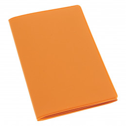 Etui PVC gomme pour carte grise (133x264 mm) orange