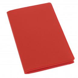 Etui PVC gomme pour carte grise (133x264 mm) rouge