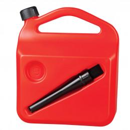 Bidon jerrican à carburant en plastic homologué EU 5L + bec verseur