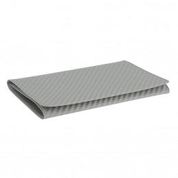 Etui PVC pour carte grise (133x264 mm) look carbon clair